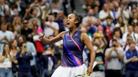 Leylah Fernandez en finale du US Open