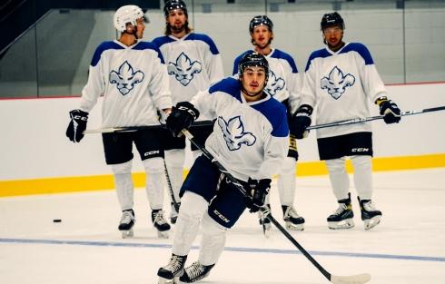 Quelques joueurs au camp préliminaire des Lions de Trois-Rivières