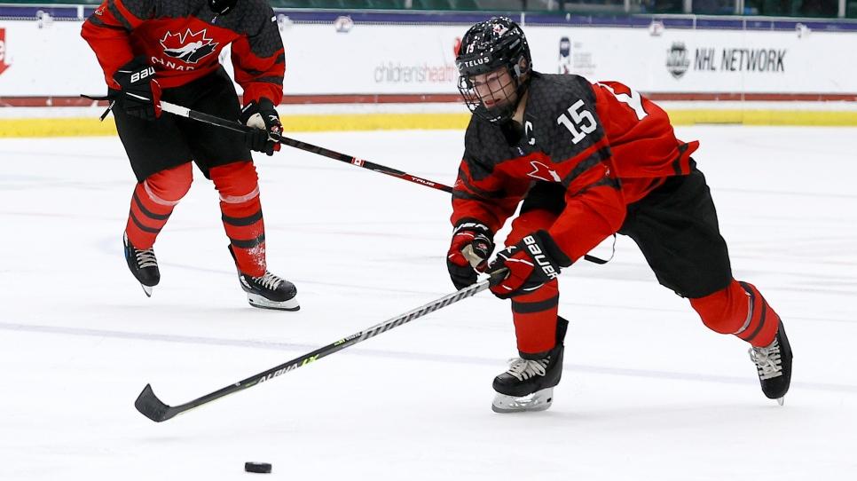 Dans deux mois Équipe Canada junior...
