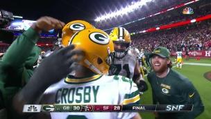 Mason Crosby, sur 51 verges pour la victoire