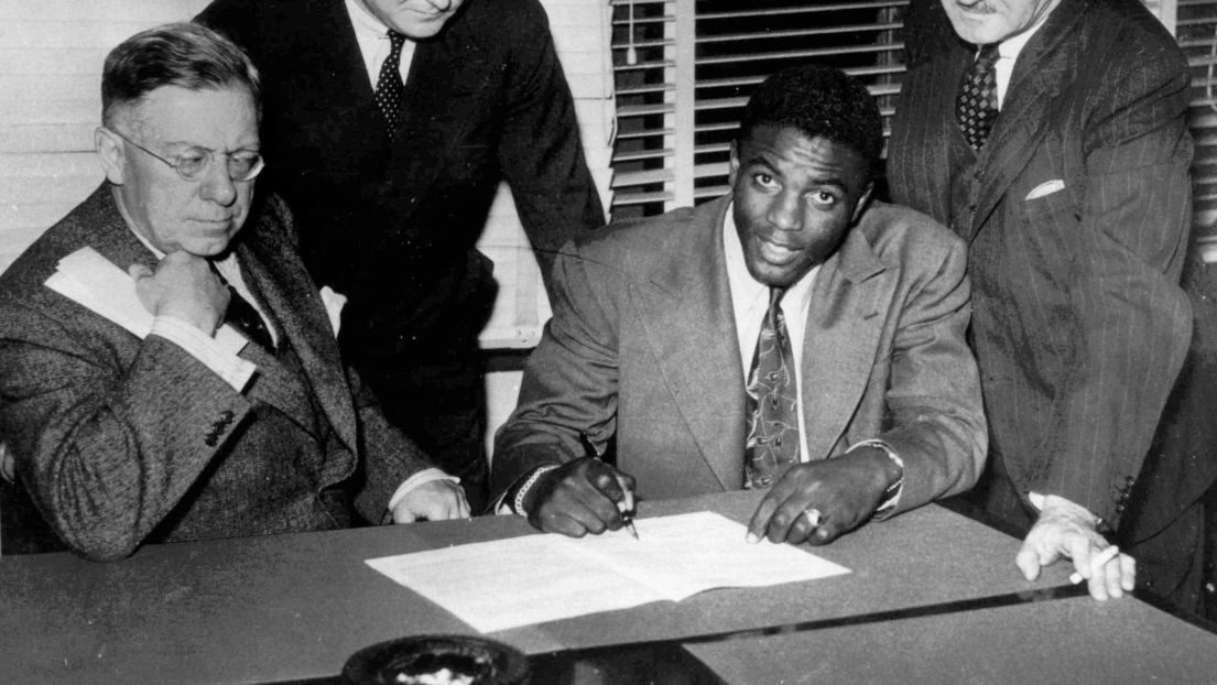 Hector Racine et Jackie Robinson