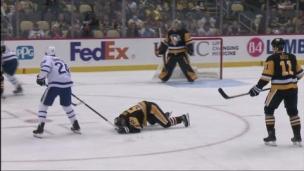 Les Leafs sont corrigés, Simmonds est fâché