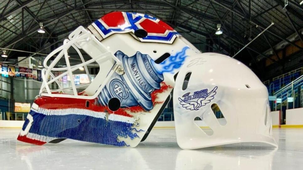 Le nouveau masque de Samuel Montembeault avec les Canadiens est magnifique
