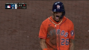 Maldonado contribue; 4-1 Astros