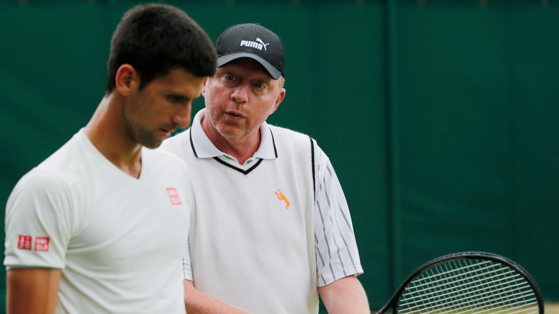Novak Djokovic et Boris Becker