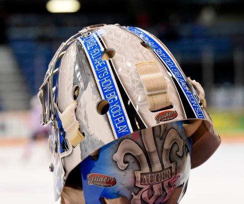 Le casque de Sébastien Auger