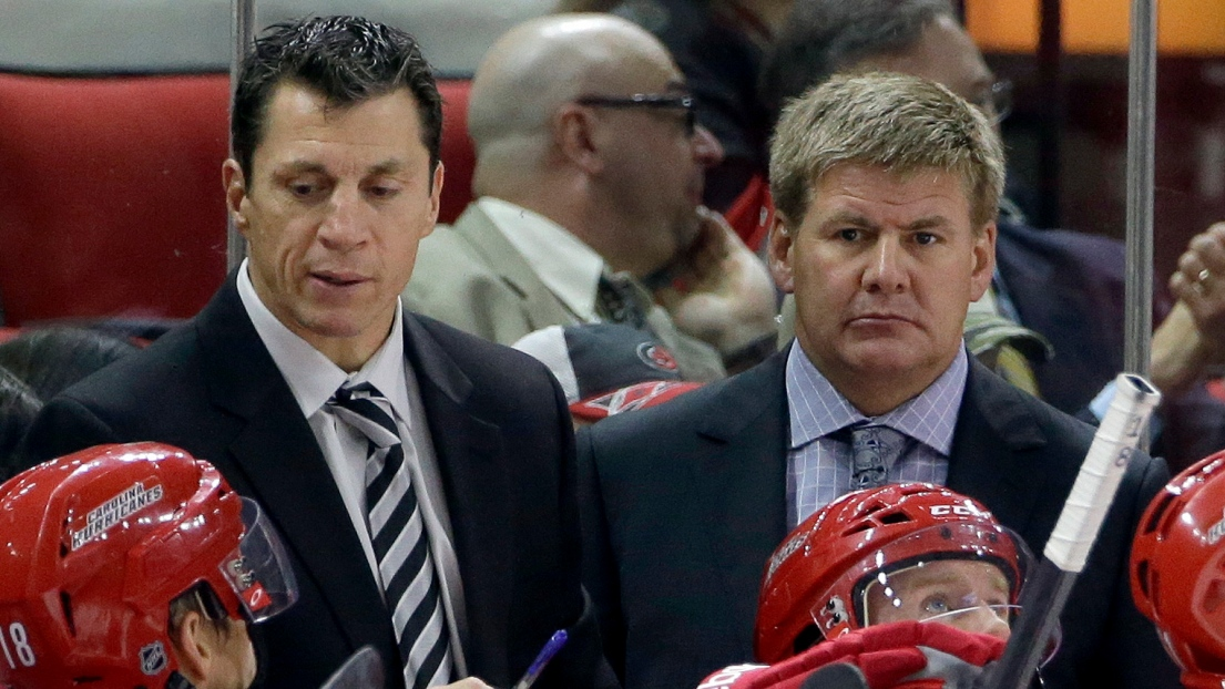 Rod Brind'Amour et Bill Peters