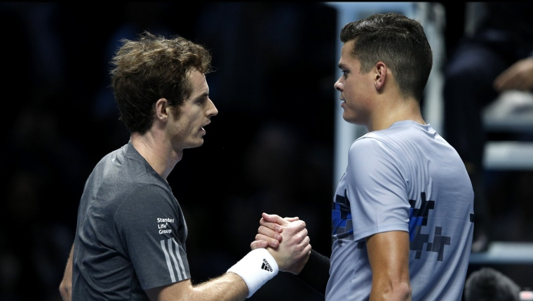 Andy Murray et Milos Raonic