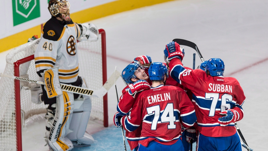 Tuukka Rask des Bruins après un but du Canadien