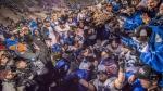Les Carabins célèbrent leur conquête de la Coupe Vanier