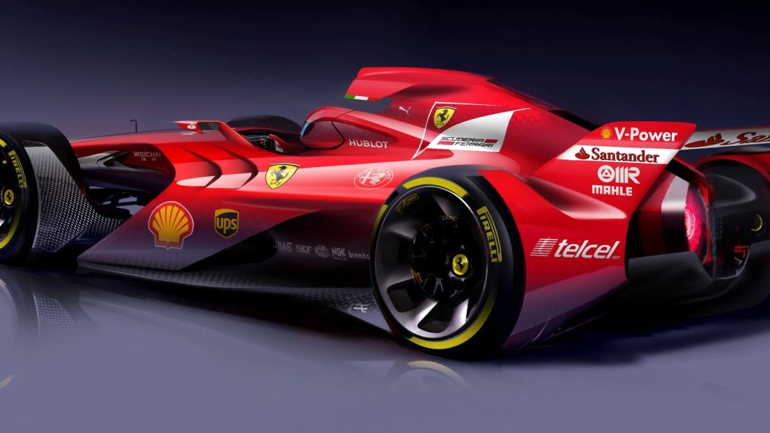 ferrari diffuse le visuel de la voiture qui pourrait être l'avenir