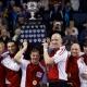 Les membres d'Équipe Canada après leur triomphe au Brier