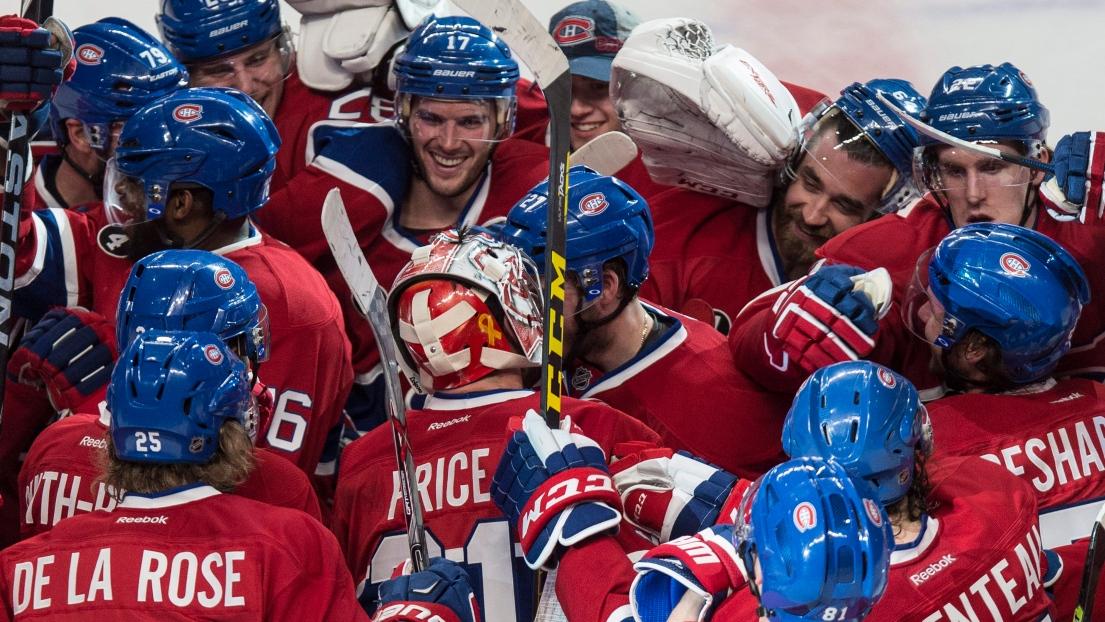 Les joueurs du Canadien qui célèbrent