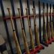 Des bâtons de baseball qui pourraient se retrouver au futur musée du Panthéon des sports