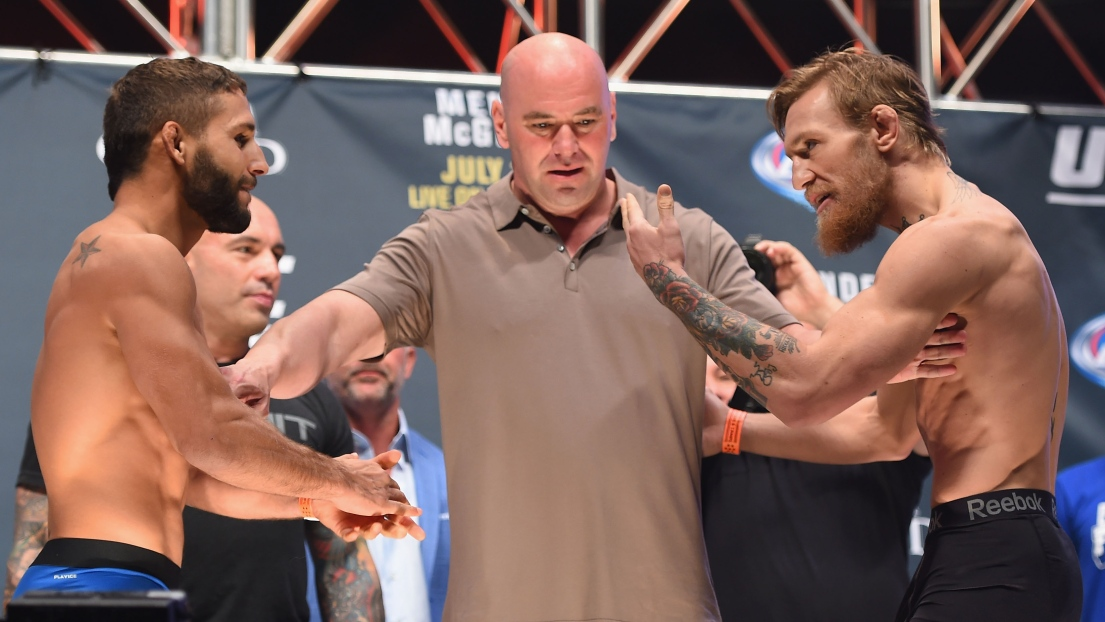 Conor McGregor et Chad Mendes