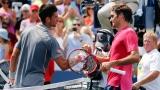 Novak Djokovic et Roger Federer