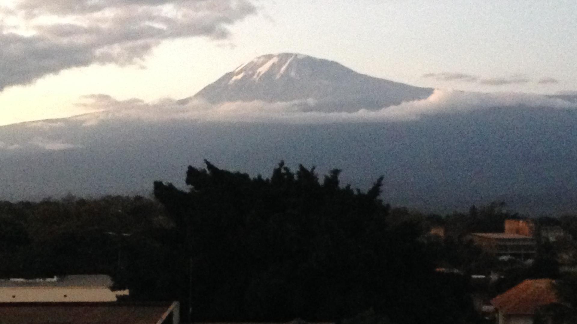 Vue du Kilimandjaro de la ville de Moshi