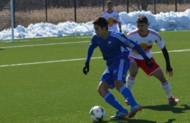 Choinière et Antoine avec le Canada U18
