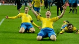 Zlatan Ibrahimovic et Kim Kallstrom