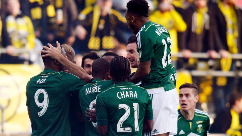 Les Timbers célèbrent le but de Diego Valeri