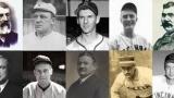 HAUT: Doc Adams, Bill Dahlen, Marty Marion, Frank McCormick, Chris Von Der Ahe / BAS: Sam Breadon, Wes Ferrell, Garry Herrmann, Harry Stovey, Bucky Walters