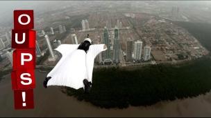 Oups! Un saut en « Wingsuit »