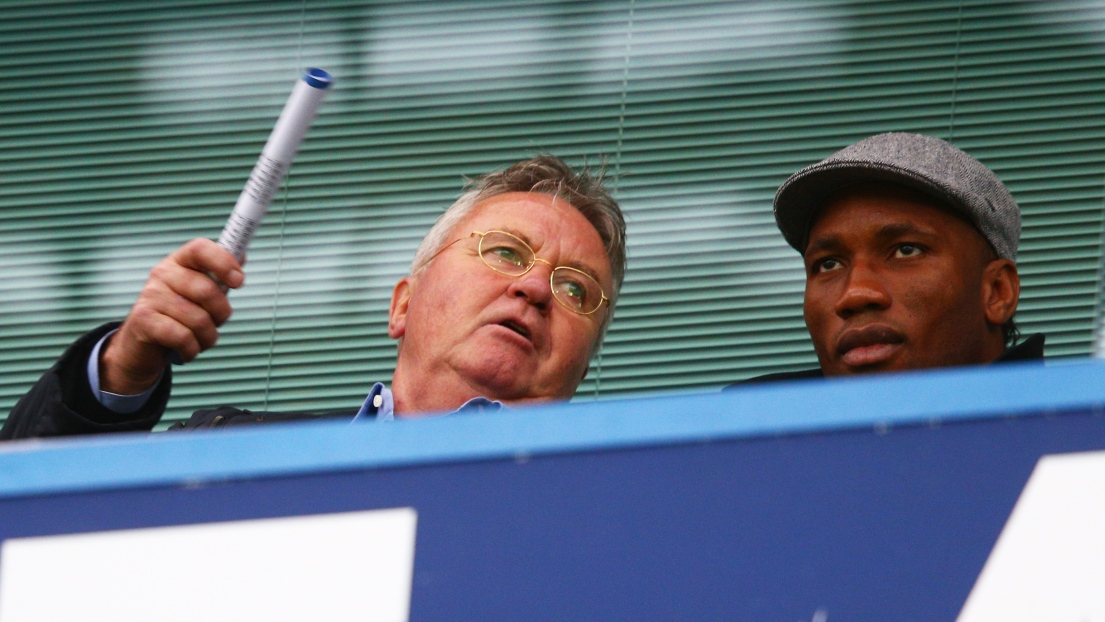 Guus Hiddink et Didier Drogba