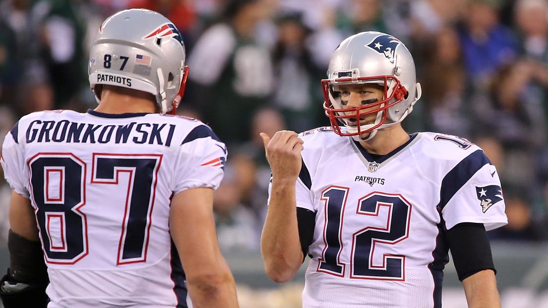 Rob Gronkowski et Tom Brady