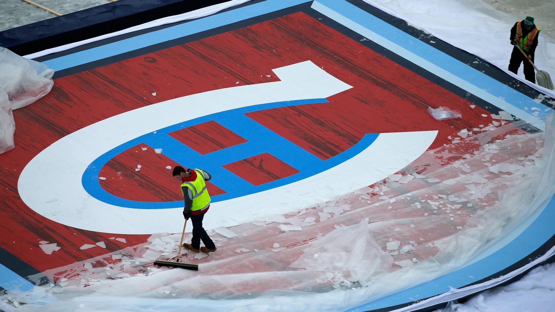 Le logo du Canadien pour la Classique hivernale au Gillette Stadium