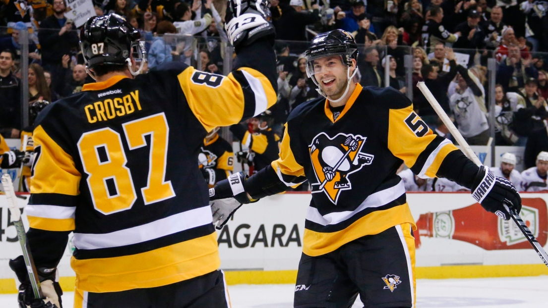 Sydney Crosby et Kristopher Letang
