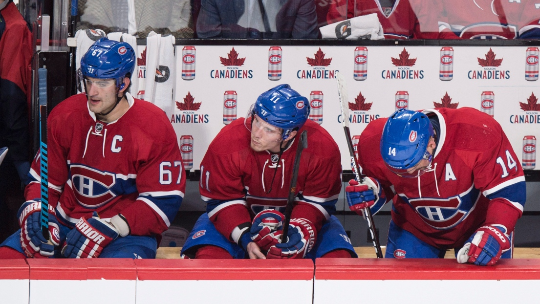 Max Pacioretty, Brendan Gallagher et Tomas Plekanec