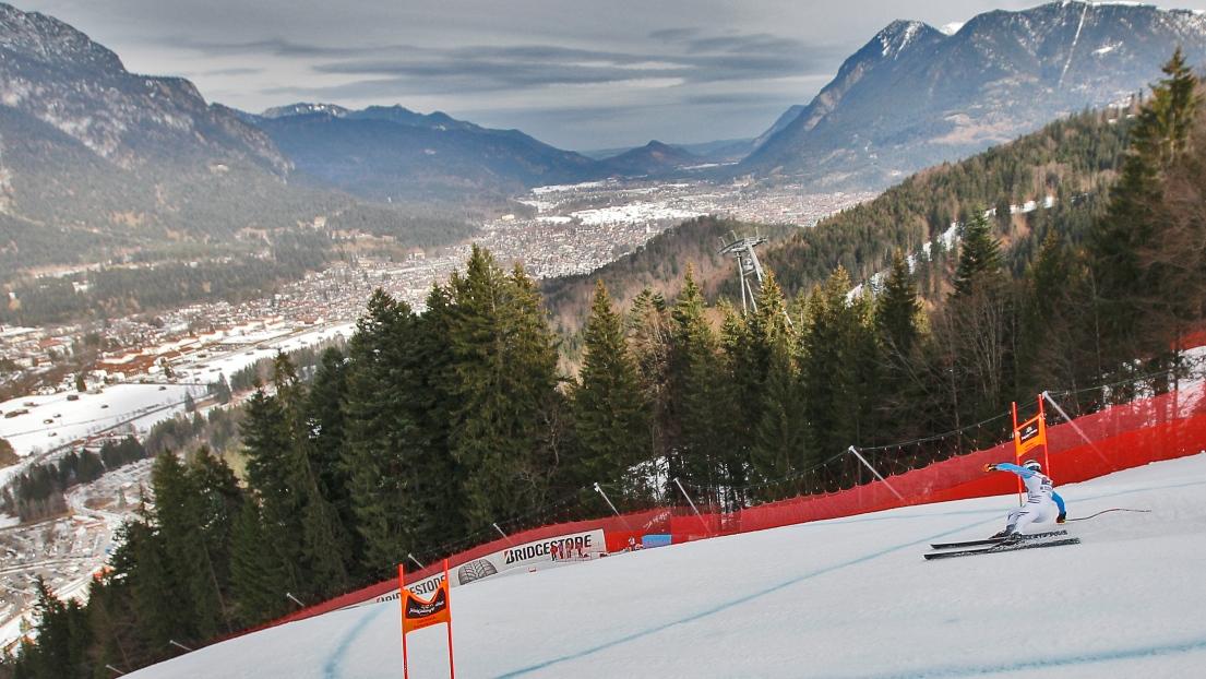 Ski alpin la descente d 39 entra nement garmisch est - Garmisch partenkirchen office du tourisme ...