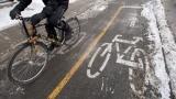 Un cycliste à Montréal