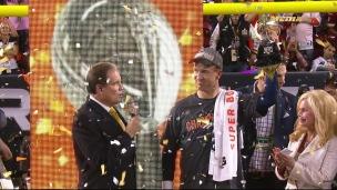 La remise du trophée Vince Lombardi!