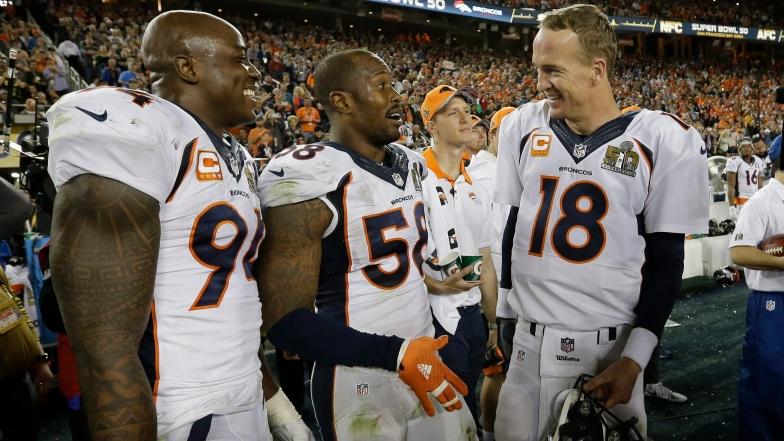 DeMarcus Ware, Von Miller et Peyton Manning