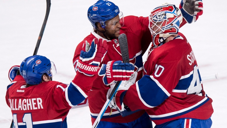 Devante Smith-Pelly et Ben Scrivens