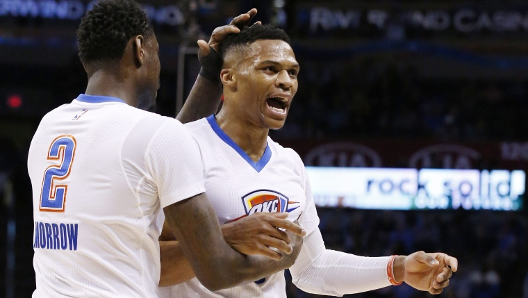 Anthony Morrow et Russell Westbrook