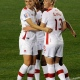 Shelina Zadorsky, Ashley Lawrence, Deanne Rose et Sophie Schmidt