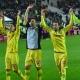 Les joueurs de Nantes célèbrent leur victoire.