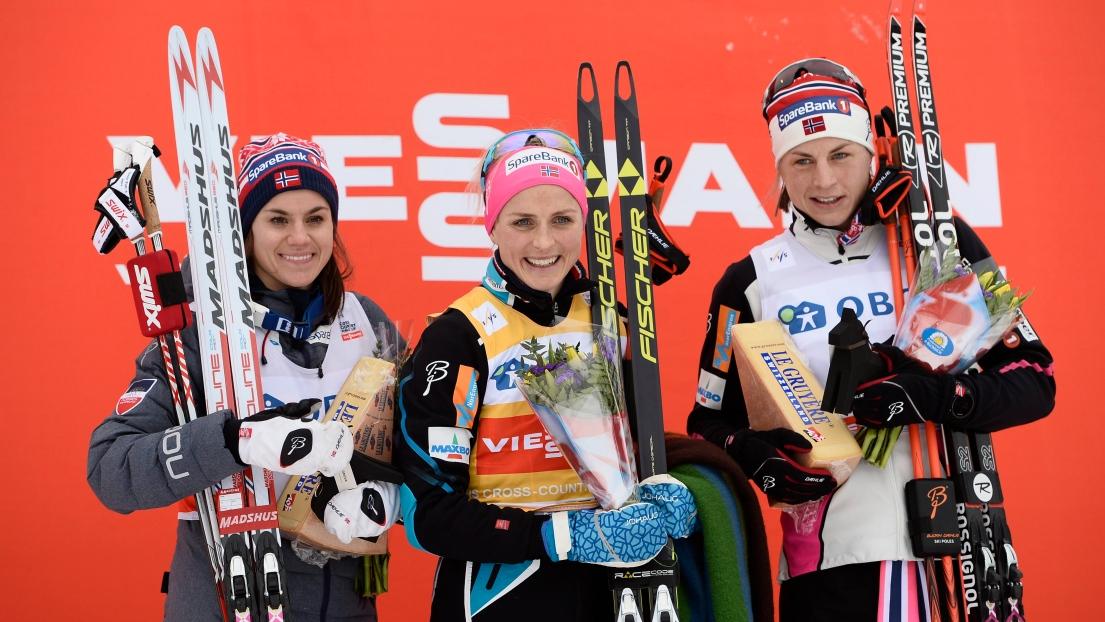 Heidi Weng, Therese Johaug et Astrid Uhrenholdt Jacobsen