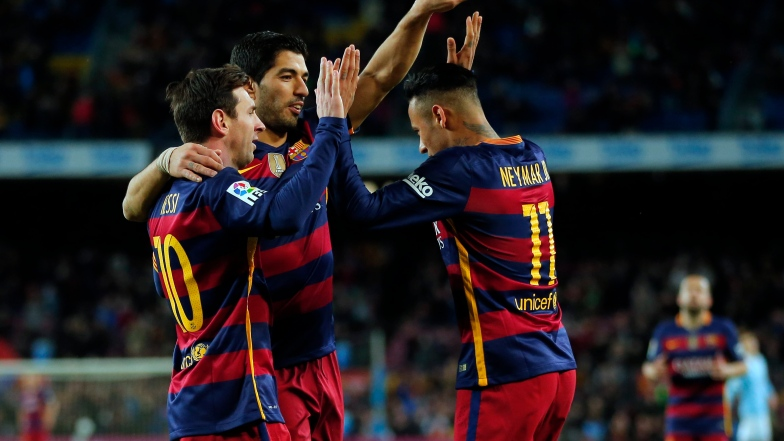 Lionel Messi, Luis Suarez et Neymar