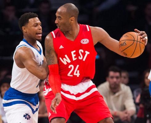 Kyle Lowry et Kobe Bryant