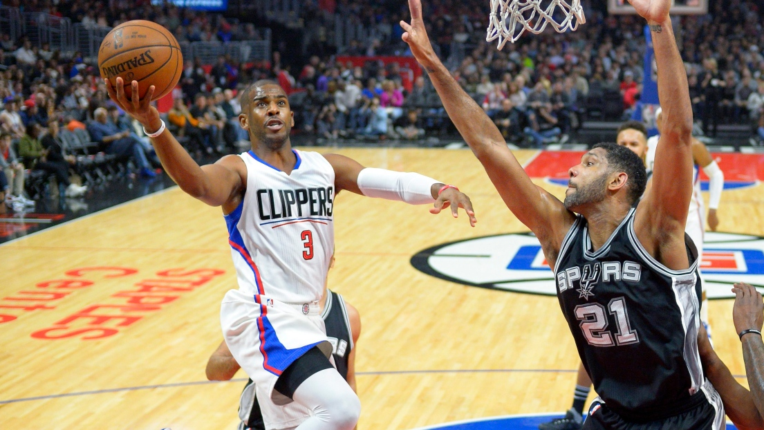 Chris Paul et Tim Duncan