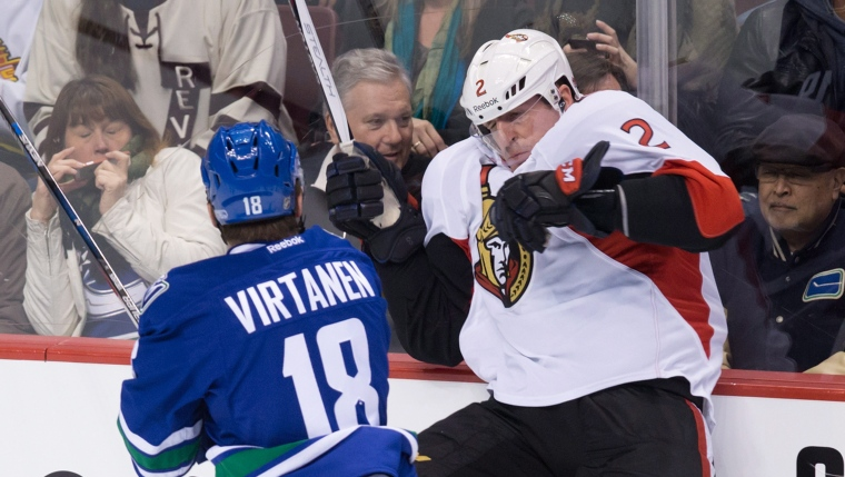 Dion Phaneuf et Jake Virtanen