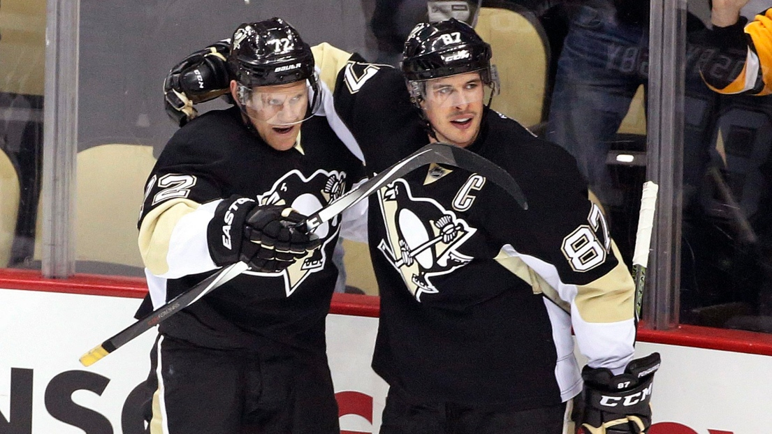 Patric Hornqvist et Sidney Crosby