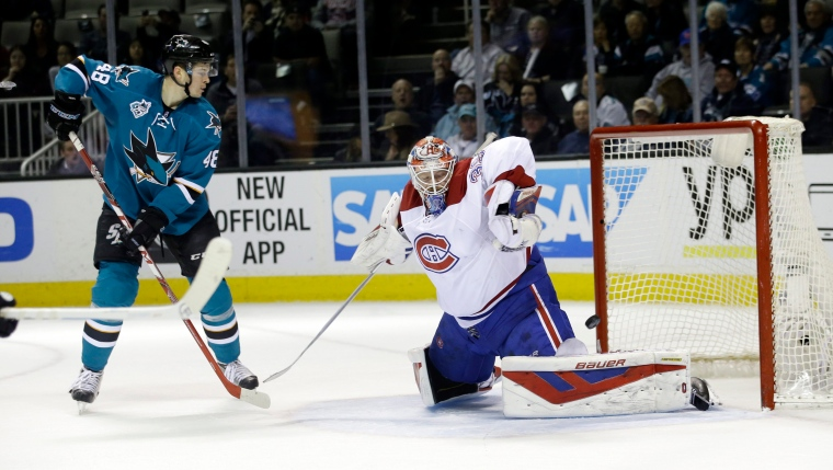 Joe Pavelski et Mike Condon