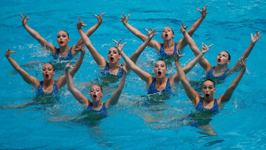 L'équipe canadienne de nage synchronisée