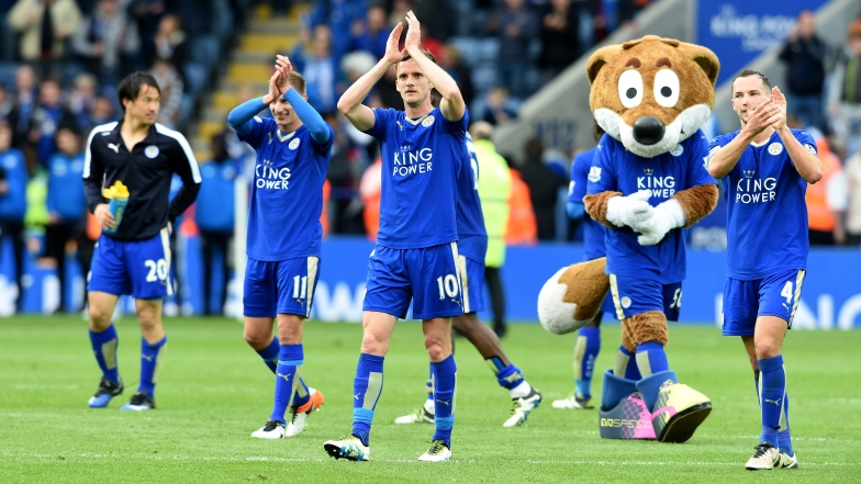 Des joueurs de Leicester célèbrent