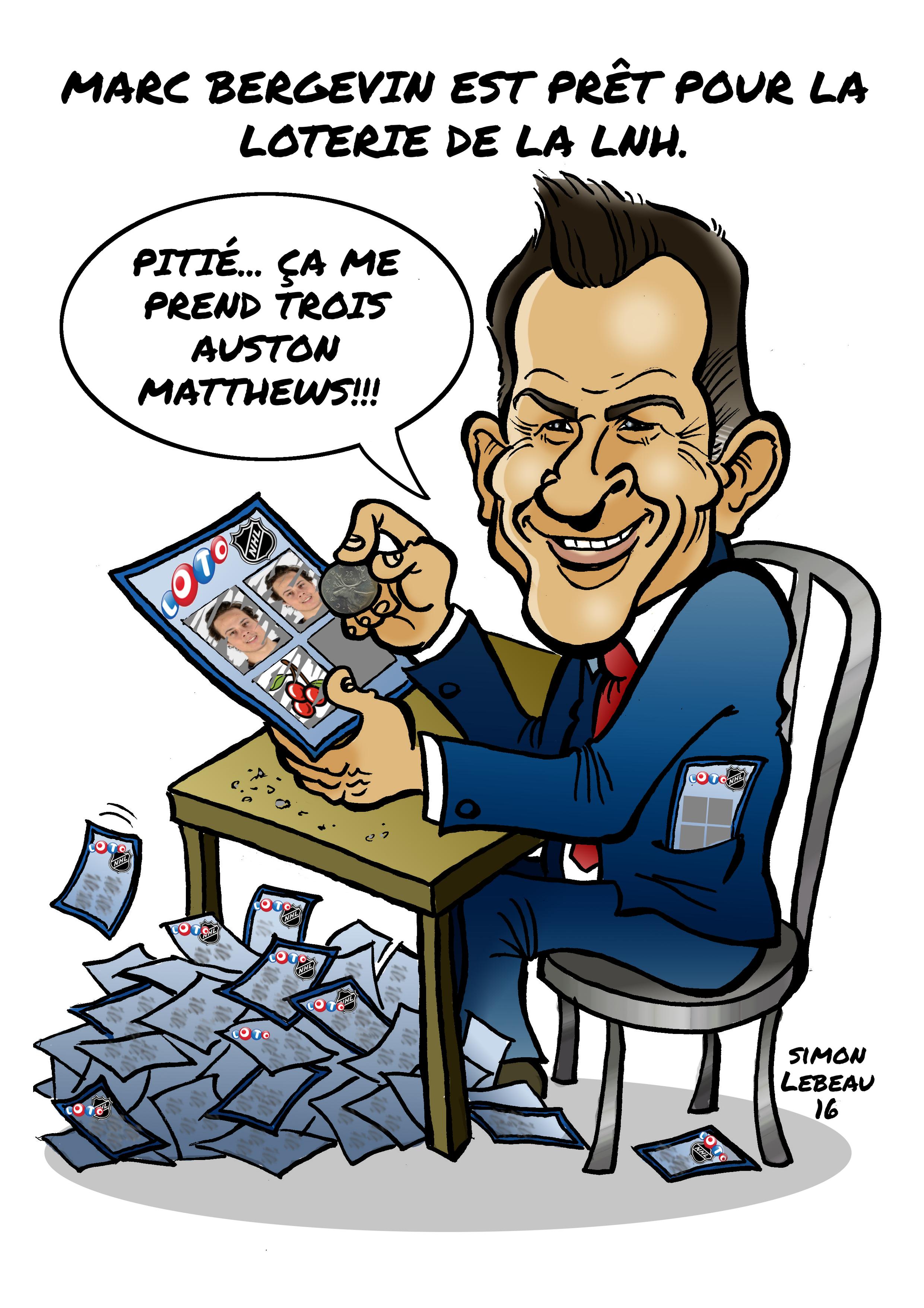 Marc Bergevin est prêt pour la loterie Image