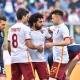 Mohamed Salah célèbre avec Diego Perott et Stephan El Shaarawy